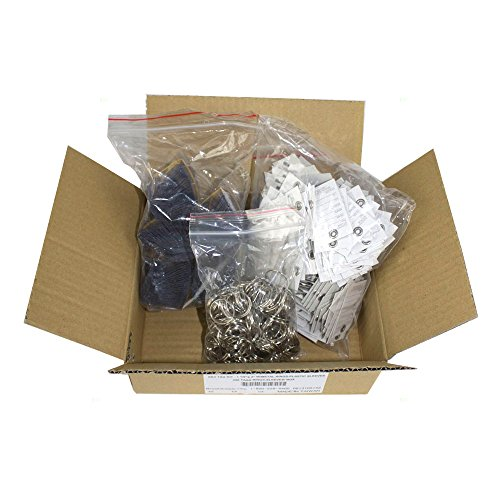 250 Pc Box Set Key Tags Metal Rings w/Plastic Sleeves Pre-Printed Forms 1 1/8x2 for Auto Shop Repair Dealers Taxi Limo Rental Auction AutoAndArt