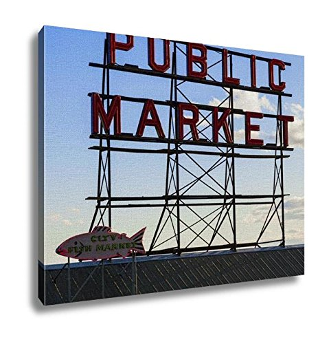 - Ashley Canvas, Seattle Public Market Center Sign Pike Place Market Seattle Wa USA, 24x30, AG5417767