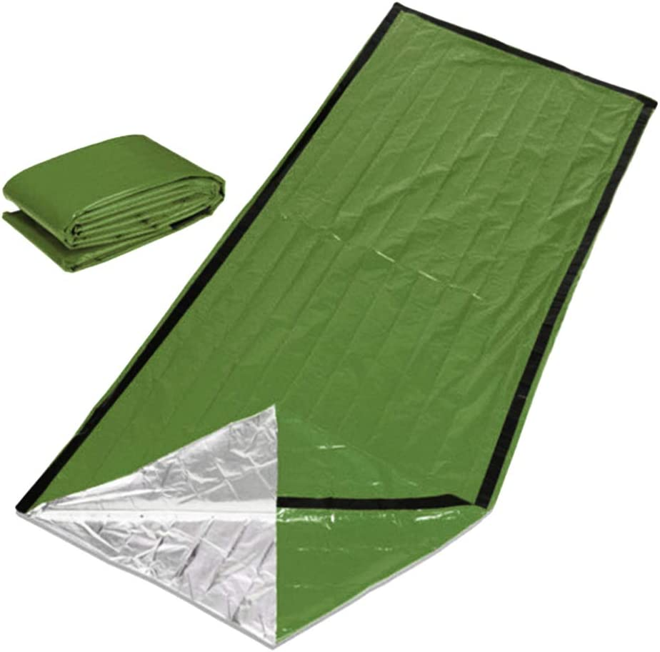 BESPORTBLE Manta de Emergencia Manta C/álida de Supervivencia Saco de Dormir Manta de Picnic Manta de Supervivencia T/érmica C/álida para Escalar Al Aire Libre