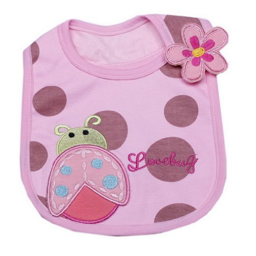 Baby Bugs Baby Bib (JTC Baby Girl Boy Waterproof Bib Ladybug Pattern for 0-2years Old)