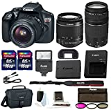 Canon Rebel T6 DSLR Camera w/18-55mm & 75-300mm Lenses Canon 100ES Bag, Flash, Filter kit+ 32GB Promotional Dads and Grads Bundle
