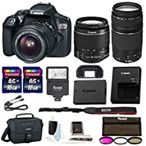 Canon Rebel T6 DSLR Camera w/18-55mm & 75-300mm Lenses Canon 100ES Bag, Flash, Filter kit+ 32GB PromotionalBundle