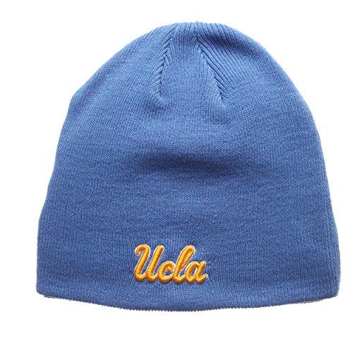 - ZHATS UCLA Bruins Blue Edge Skull Cap - NCAA Cuffless Winter Knit Beanie Toque Hat