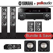 Yamaha AVENTAGE RX-A3070BL 11.2-Ch Dolby Atmos Network AV Receiver + Polk Audio TSi 400 + Polk Audio CSi A4 + Polk Audio TSi 200 + Polk Audio HTS12 - 5.2-Ch Home Theater Package
