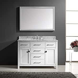 "Virtu USA MS-2048-WMSQ-WH Caroline 48"" Single Sink ..."
