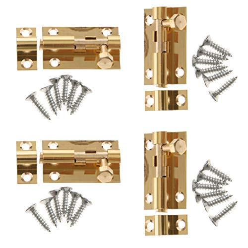 D DOLITY 4Pcs Creative Door Slide Lock Bolt Latch Barrel for sale  Delivered anywhere in Canada