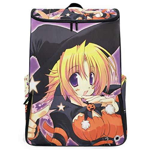 Ladninag Laptop Backpack Halloween Magical Girl Duffle Backpack for Men Big 3D Daypack -