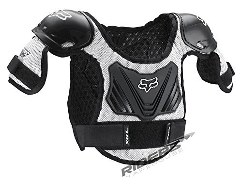FOX TITAN KIDS ROOST DEFLECTOR BLACK/SILVER SM/MD AGES 4-7 by Fox Racing