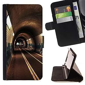 Devil Case- Estilo PU billetera de cuero del soporte del tir¨®n [solapa de cierre] Cubierta FOR Sony Xperia M2 s50h Aqua- Road