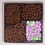 Scott's Cakes Large 4-Pack Chocolate Pretzels, Chocolate Rasins, Chocolate Peanuts, & Chocolate Dutch Mints