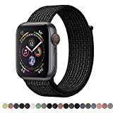 AdMaster Compatible for Apple Watch Band 38mm 40mm 42mm 44mm, Soft Nylon Sport Loop Replacement Wristband Compatible iWatch Apple Watch Series 4/3/2/1