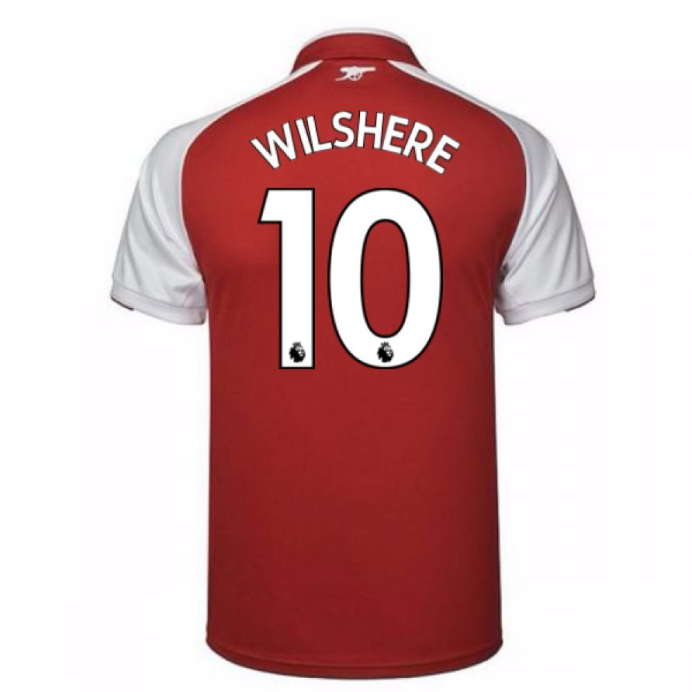 2017-18 Arsenal Home Shirt (Wilshere 10) B077PS13NYRed Small Adults
