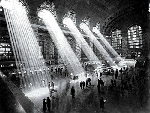 NYC Grand Central Station 1929 Retro Photo BW New York 24x18 Print Poster