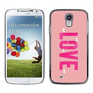 Paccase / SLIM PC / Aliminium Casa Carcasa Funda Case Cover para - love bowtie pink peach valentines - Samsung Galaxy S4 I9500