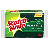 Scotch-Brite Heavy Duty Scrub Sponge, 3-Sponges