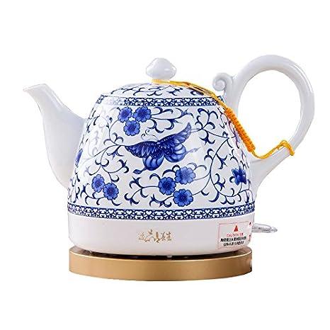 Hervidor CAIXIA Agua Pot Caldera eléctrica de cerámica China de Porcelana Azul y Blanca de Ahorro de energía de Seguridad 1L 23.5 * 16.5 * 25cm Ebullición ...