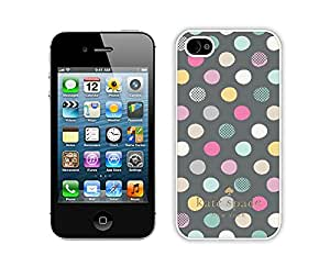Popular Customize iPhone 4S Phone Case Kate Spade New York Unique Cover Case For iPhone 4 4S 180 White
