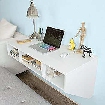 Haotian Wall-mounted Table Desk,Home Office Desk Workstation,Floating desk  with storage