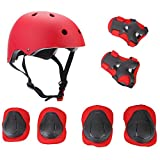 ELESKY Kids Adjustable Sports Protective Gear Set Safety Pad Safeguard (Helmet Knee Elbow Wrist) Roller Bicycle BMX Bike Skateboard Hoverboard and Other Extreme Sports Activities