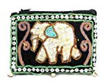 Hmong Hill tribe thick embroidery cross body bag handbags coin purses- one size – green, Bags Central