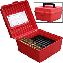 MTM 100 Round Deluxe Handled Magnum Flip-Top Rifle Ammo Case