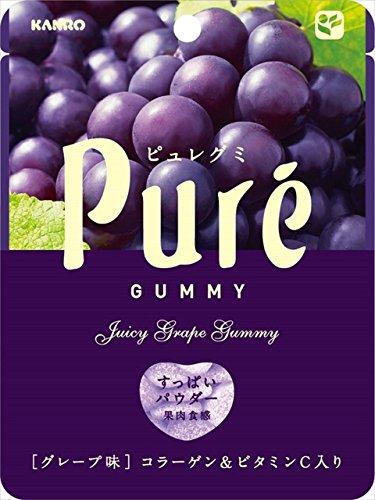 Kanro Pure Gummy Series (Grape, Pack of 6)
