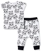 Silly Apples Unisex Baby 2-Piece Short-Sleeve...