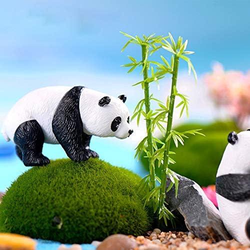 Accesorios de Fotogra Size S Makwes 4 Piezas Linda Panda Miniatura Animal Paisaje Jard/ín Casa de mu/ñecas Bricolaje Ornamento,Micro Decoraci/ón de Paisaje para Adornos Decorativos de Bricolaje