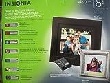 Insignia NS-DPF8WW-09 - Digital photo frame - flash 128 MB - 8' - 800 x 480 - black