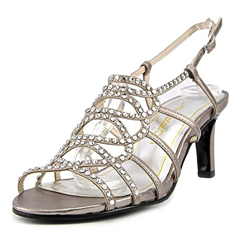 Caparros Womens A-List Open Toe Special Occasion Slingback Heeled Sandals Mushroom Metallic Size 8.0 M US