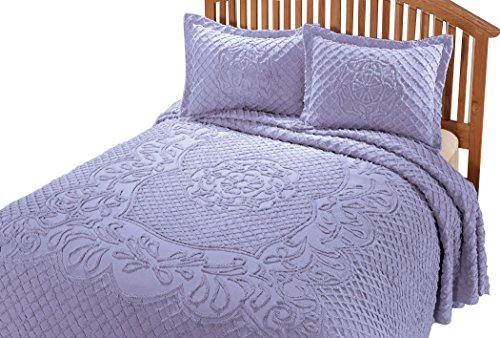 WalterDrake The Martha Chenille Bedding East Wing Comforts, King, Lilac