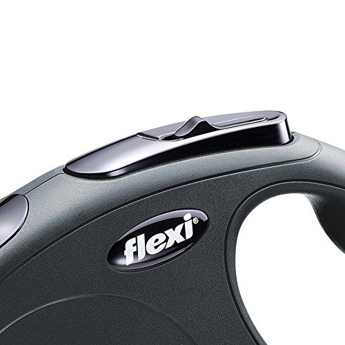 Flexi New Classic Retractable Dog Leash (Tape), 16 ft, Small, Black