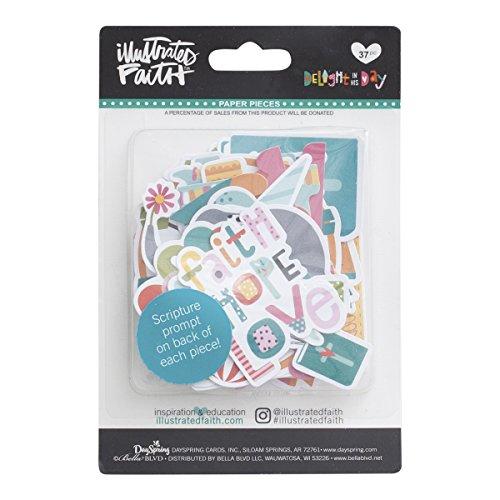 Stickers Scrapbooking Die Cut - Illustrated Faith - Die Cut Paper Pieces - Faith, Hope, Love