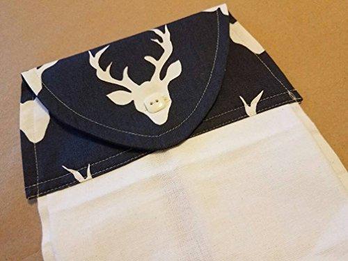 Deer Hanging Flour Sack Kitchen Towel