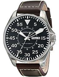 Hamilton Mens H64715535 Khaki Pilot Black Dial Watch