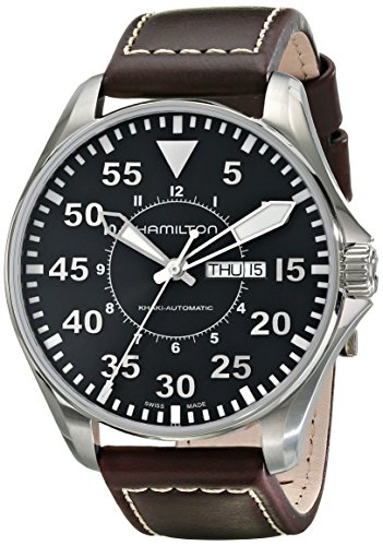 Hamilton Men's H64715535 Khaki Pilot Black Dial Watch