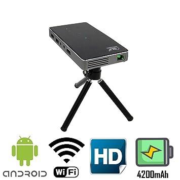 Amazon.com: DLP Portable Mini Projector with HDMI WiFi BT ...