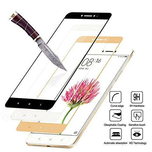 Full Cover Tempered Glass for Xiaomi Redmi 4X 5 Plus 4A 5A Redmi Note 5 Pro 4X Note 4 5A Prime| Direct [Scratch-Resistant] [HD Clear] [Anti-Fingerprint] [Bubble Free] (Black, Redmi 4A)