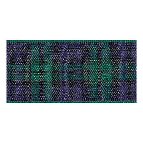 Berisfords Essentials R762210/9 | Black Watch Woven Tartan Ribbon | 25m x 10mm