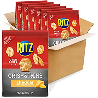 RITZ Crisp and Thins Cheddar Chips, 6 - 7.1 oz Bags