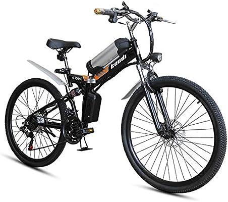 H&J Bicicleta eléctrica Plegable, Bicicleta de montaña eléctrica ...