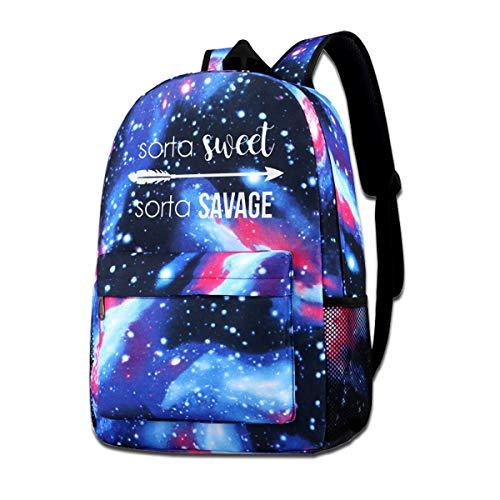 (Sorta Sweet Sorta Savage Adult Unisex Mens & Womens Fashion Colorfull Style Sports Shoulders Bag)