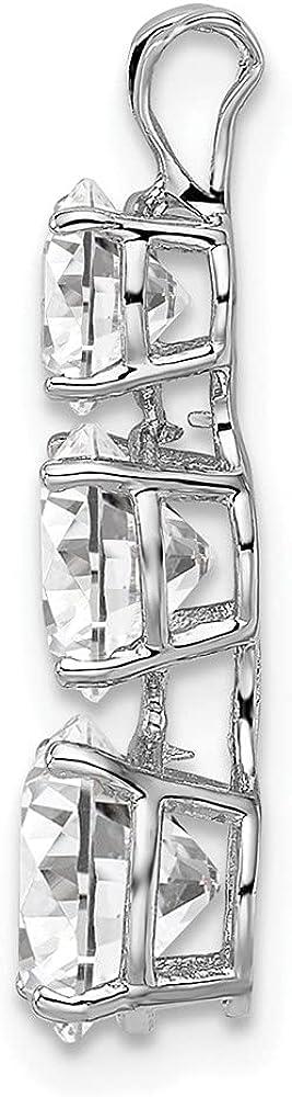 Custom Made Black CZ Pendant Solid Sterling Silver 3ct Square Black Cubic Zirconia Art Deco Silver Filigree Necklace-Pendant Design#P63