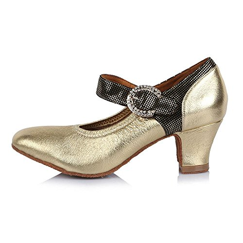 heel Modern Shoes 45mm Dance Ballroom Square Women's heell Latin 30908 YFF Tango 8HUAx