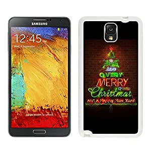 Best Buy Green Red Letter Of Merry Christmas Happy New Year White Silicone Case For Samsung Galaxy Note 3,Samsung N9005 Phon