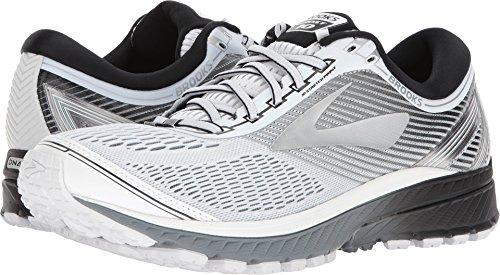 Brooks Men's Ghost 10 White/Silver/Black 8.5 D US (Brooks Athletic Apparel)