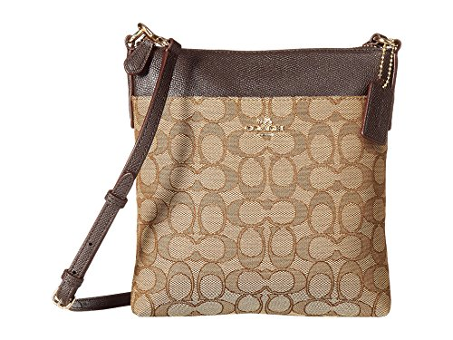 COACH Women's Signature Messenger Crossbody Light/Khaki/Brown One Size