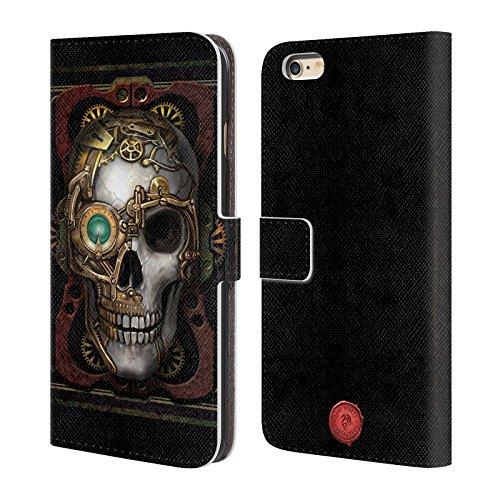 Officiel Anne Stokes Crâne Steampunk Étui Coque De Livre En Cuir Pour Apple iPhone 6 Plus / 6s Plus
