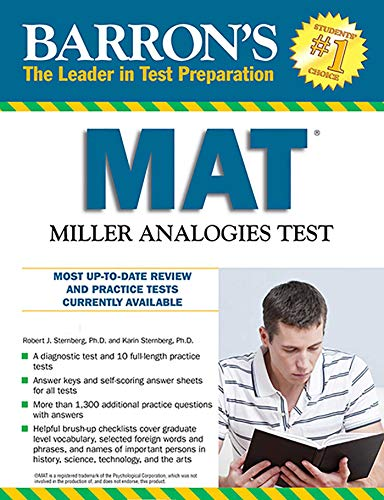 Pdf Test Preparation Barron's MAT, 11th Edition: Miller Analogies Test