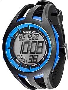 ساعة فري ستايل 101803 سوداء سيلكون كوارتز بمينا رقمي